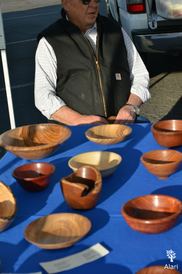Turned bowls by Ralph at the Bakersfield Valley Farmers Market