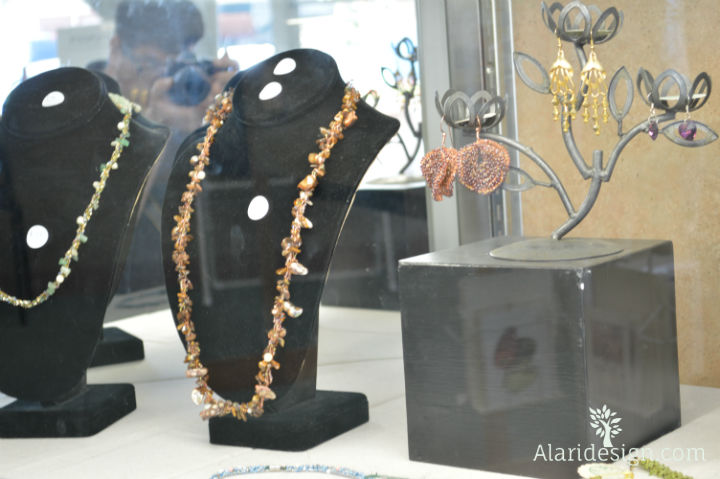 Alari design earrings and necklaces in the Bakersfield Art Center