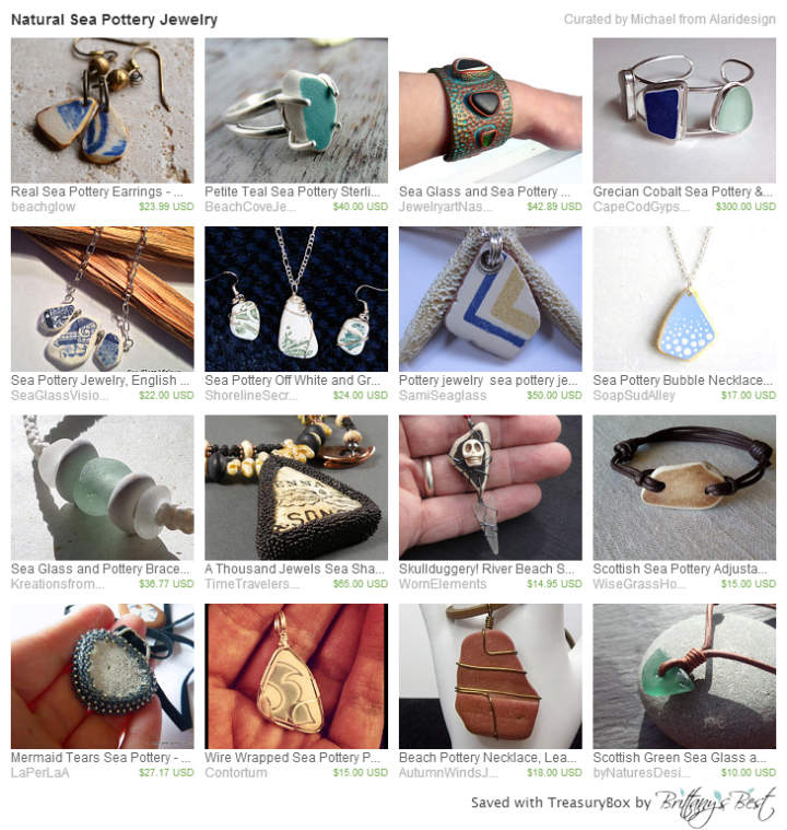 Sea Pottery Jewelry