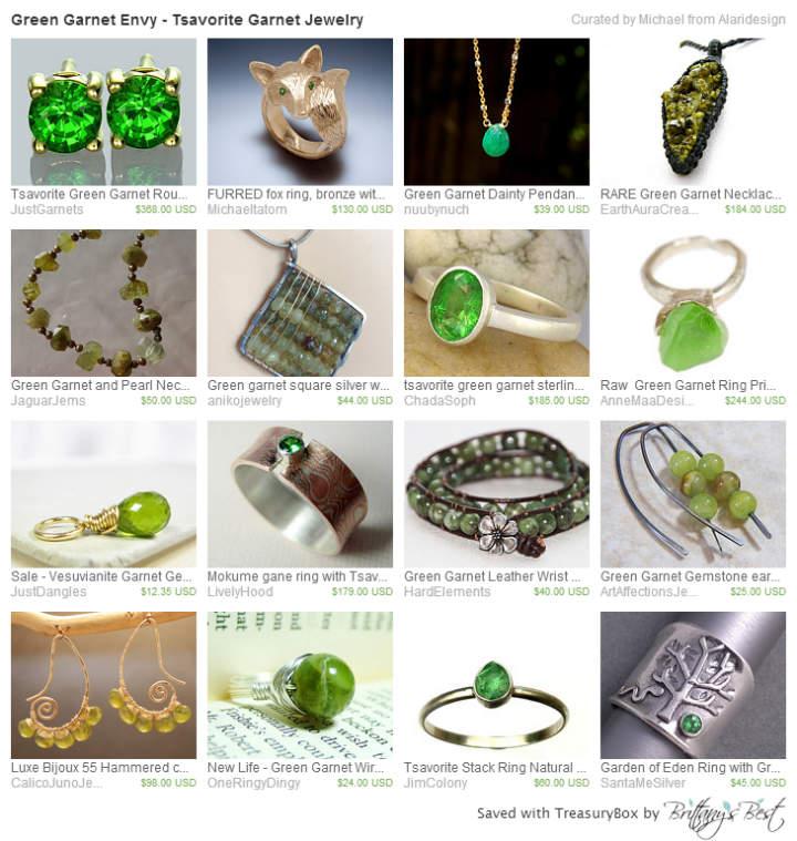 Green Garnet Envy - Tsavorite Garnet Jewelry
