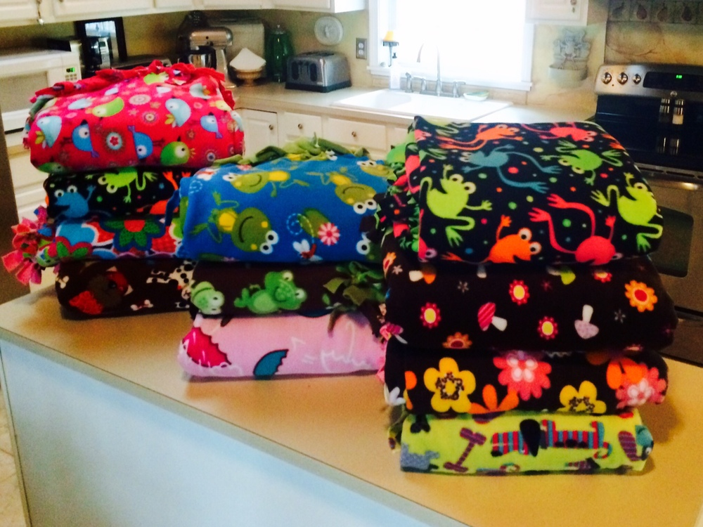 Thank You Saint Basil the Great Rectory for making these beautiful blankets for Hope Full RI