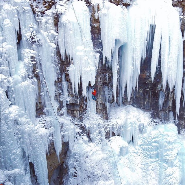 Negative 15 Fahrenheit feels as cold as it looks. Who says you can't climb waterfalls?