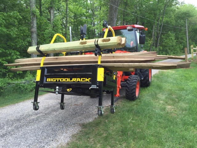 Bigtoolrack helping install split rail fence a must!