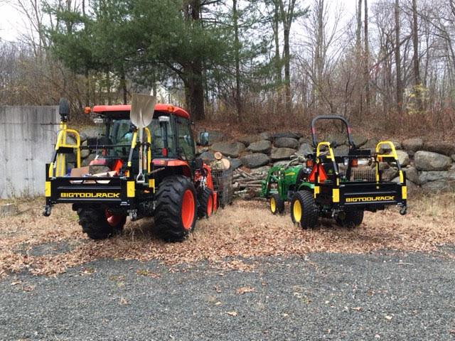Bigtoolrack on a Kubota L3560 & John Deere 2320 working on Firewood