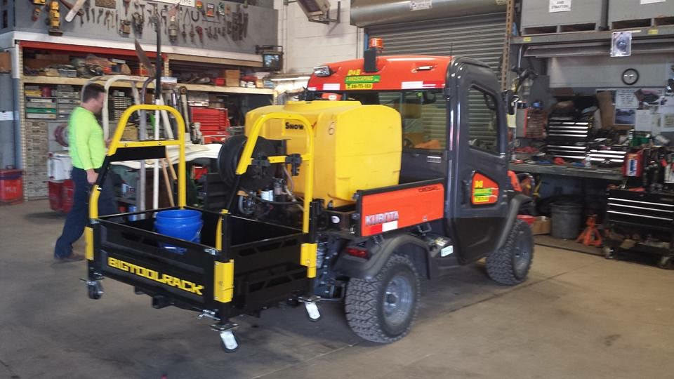 D&B Landscaping We are getting More out of our Kubota RTV with the Bigtoolrack! A big hit! Makes the job easier! Time saver!