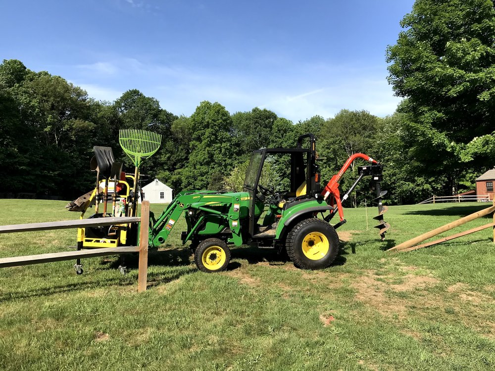 BTR on a John Deere 2038R everything I need to do the job is with me!