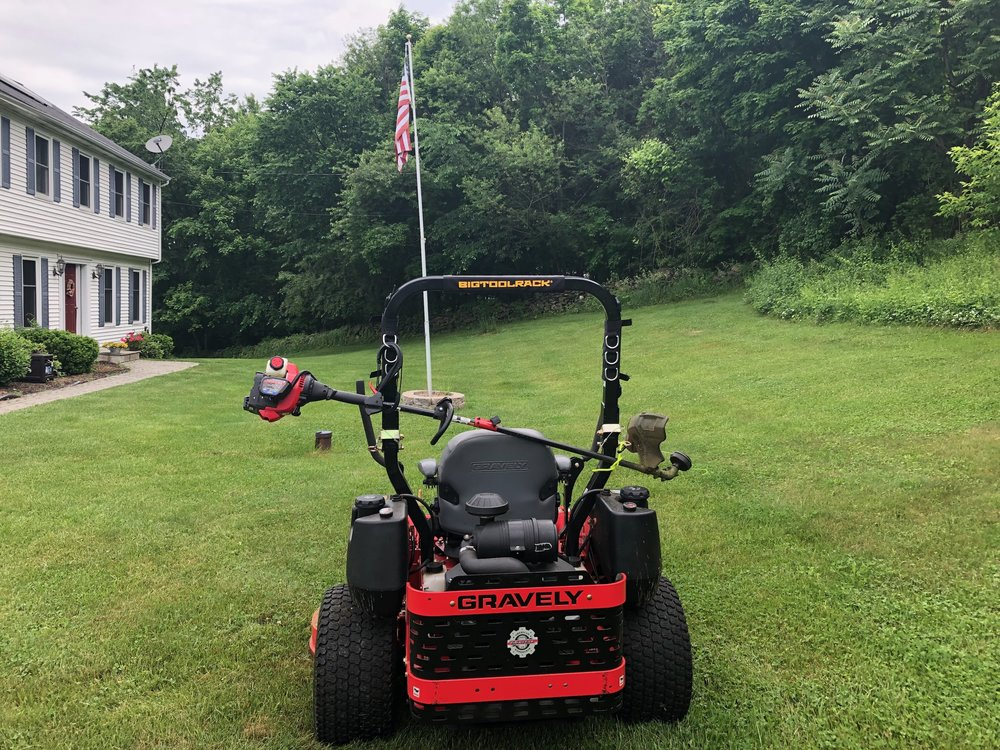 Bigtoolrack ROPSRackPack Carryall on a Gravely Pro Turn 460