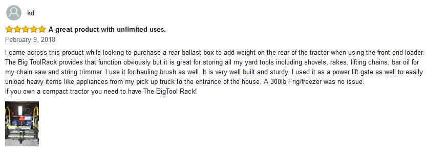 Bigtoolrack review
