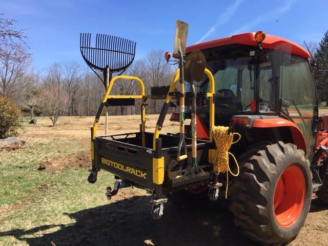 Bigtoolrack tractor attachment