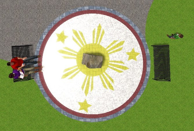 Philippines flag motiff design for Dr. Jose Rizal Park