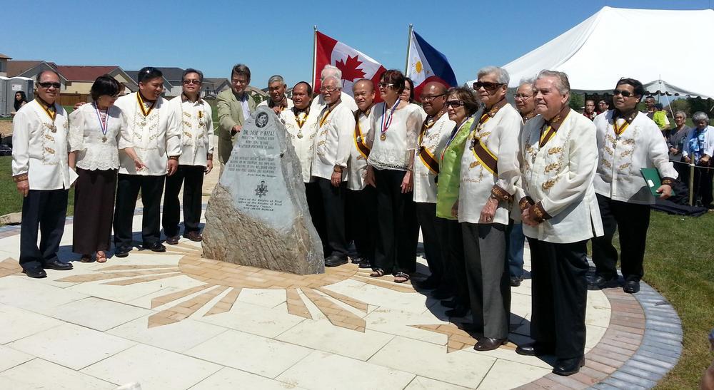 Dr. Jose Rizal Park, Winnipeg opening