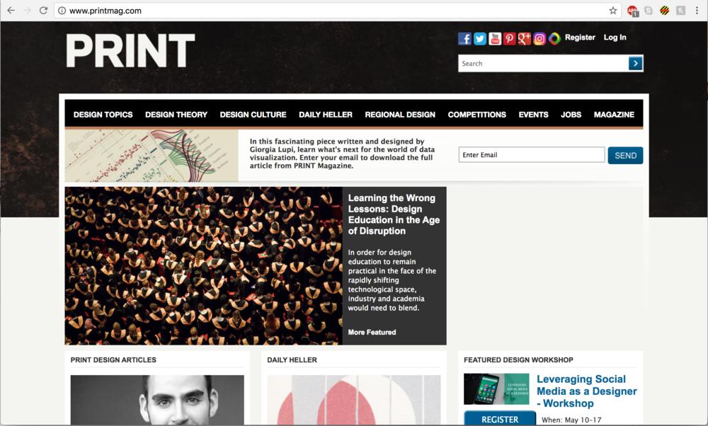 Printmag.com Homepage feature by Douglas Davis