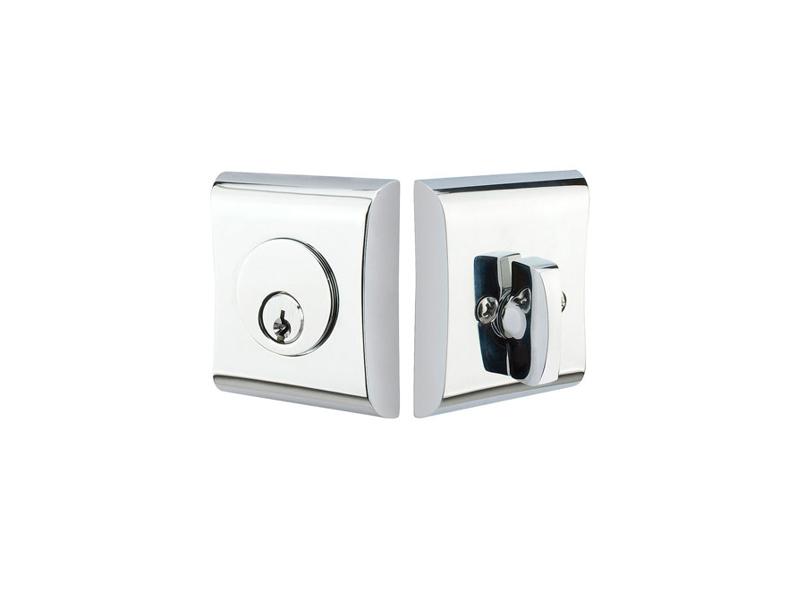 Brass Neos Deadbolt in Polished Chrome