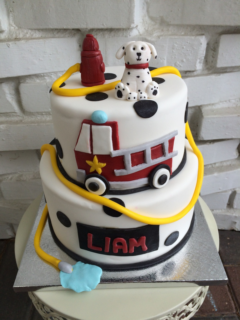 Happy 3rd birthday to Liam! Vanilla bean fire truck theme cake