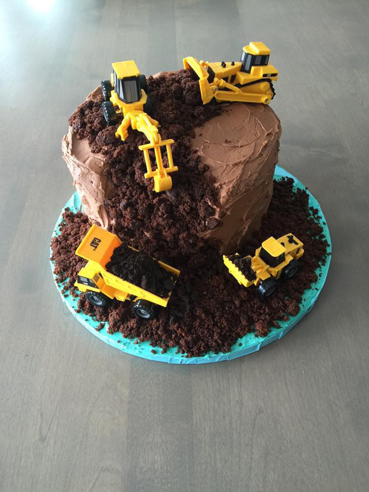 Birthday Construction Cake