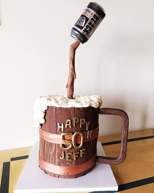 50th Birthday Beer Cake