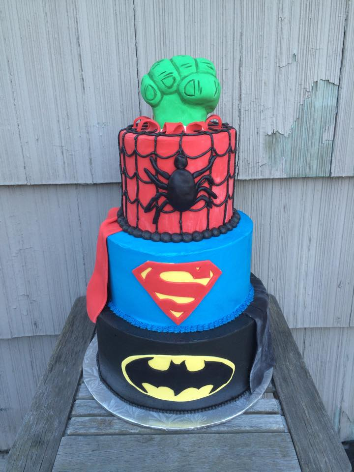Super Hero Dad Cake