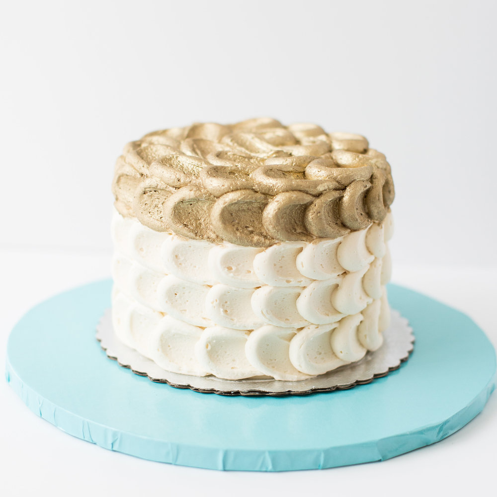 Gold Accent Cake
