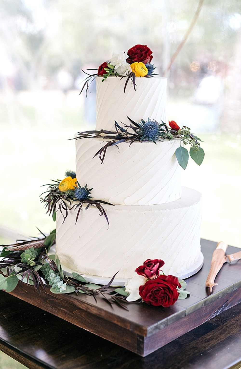 Three Tier Rustic Wedding Cake