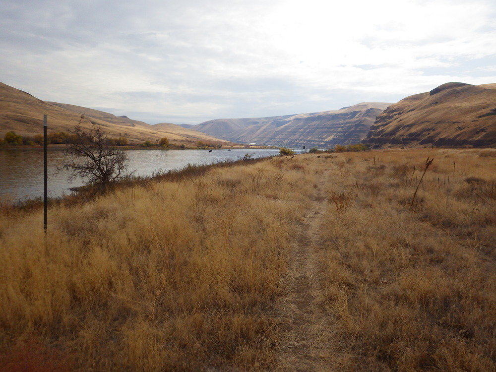 Looking up the Snake River from the SE corner of Asotin. Hells Canyon lay that direction, the deepest step canyon in North America.