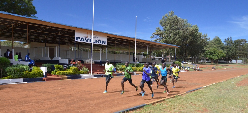 The home stretch of a fast 200m
