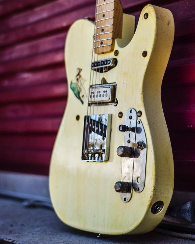 The JSCD. Custom built for @joshsmithguitarzan - - #cornell #dupree #josh #smith #blues #rock #vibtage #inspired #handmade #teletuesday #tone #gear #guitars #love #godisgood #pueblo #colorado #Superbowl