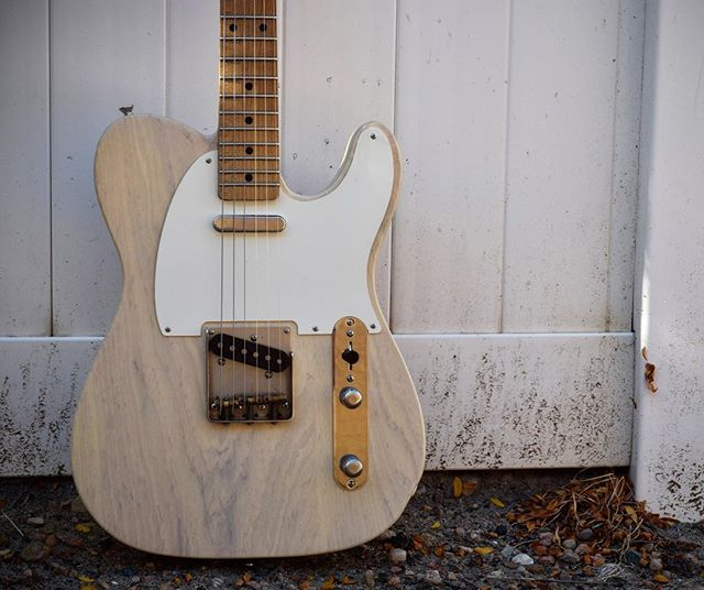 Elegant. Simple. Our favorite Tele. - - #tele #teletuesday #simple #love #favorite #1955 #white #handmade #custom #fence