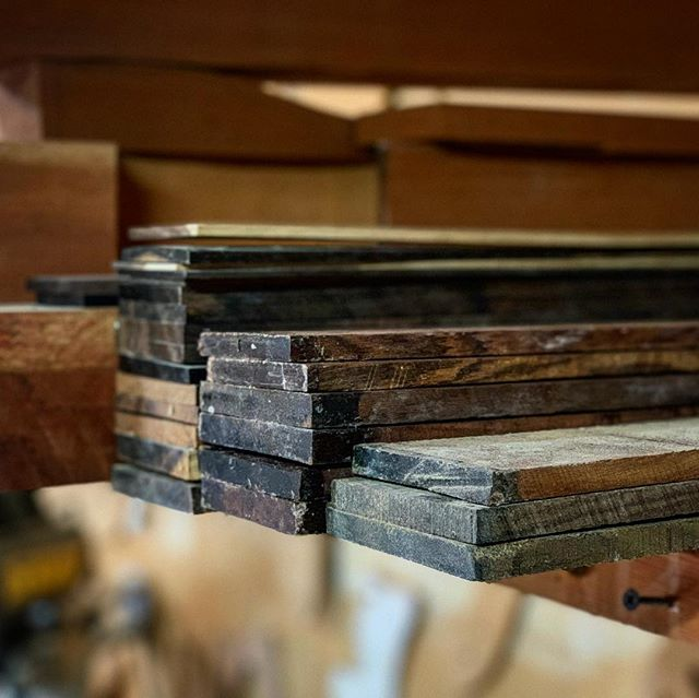 Who can name these three species of Rosewood? - - #obsessed #rosewood #love #stock #pile #rare