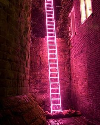 'Eschelle', neon ladder by Ron Haselden, Lumiere Durham