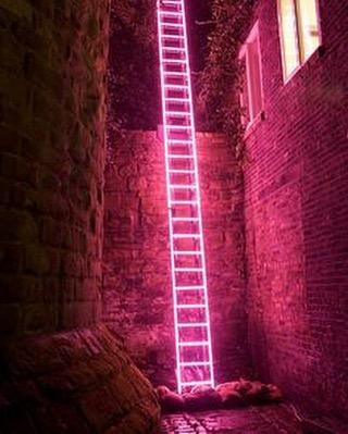 'Eschelle', neon ladder by Ron Haselden, Lumiere Durham