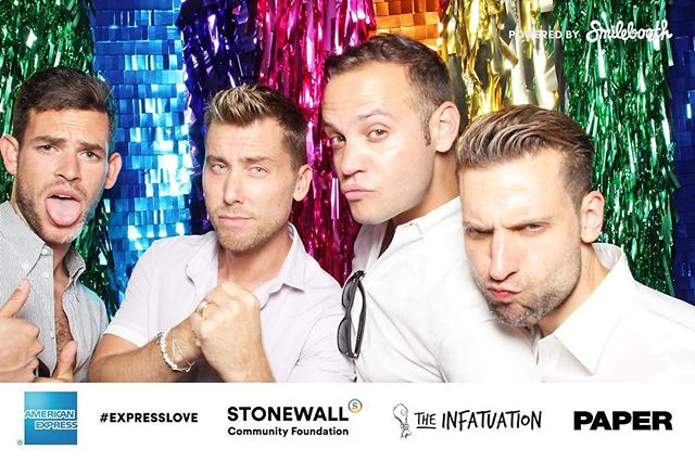 @lancebass kicking off #Pride2016 in the #Smilebooth at @thespottedpig with @AmericanExpress @infatuation #ExpressLove