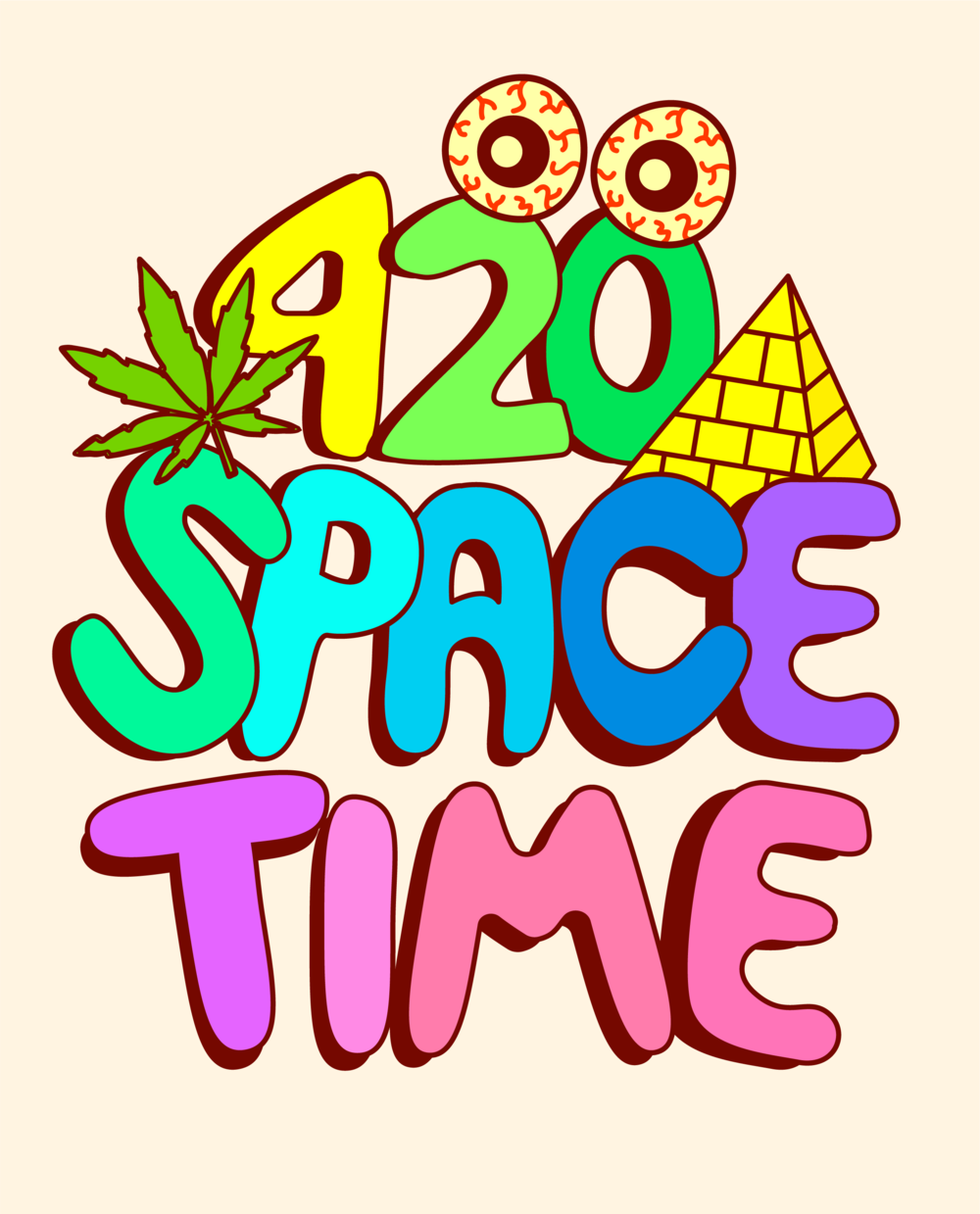 T-SHIRT DESIGN FOR @420SPACETIME