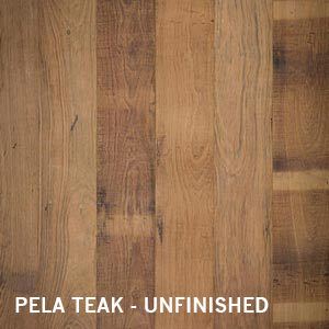 Naturally distressed reclaimed Teak flooring