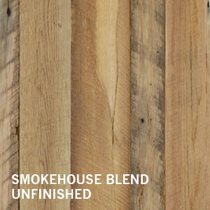 Reclaimed Wood Wall Smokehouse blend distressed