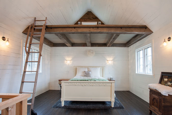 recliamed wood beam vaulted loftjpg - Reclaimed Wood Ceiling