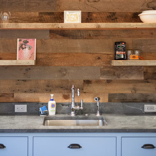 PROJECT LOG: Reclaimed Wood Walls, Barn Door, and Bright Whites Fill ...
