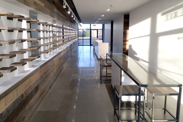 Project Log Contemporary Retail Space With Reclaimed Wood