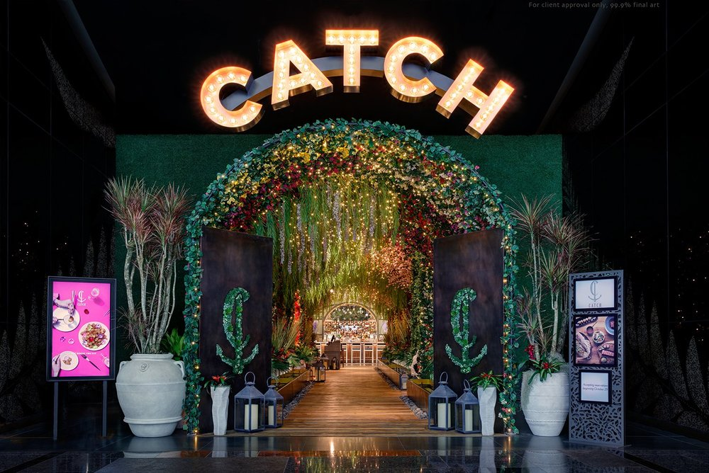 The main entrance of CATCH showcases our Sawmill Oak flooring