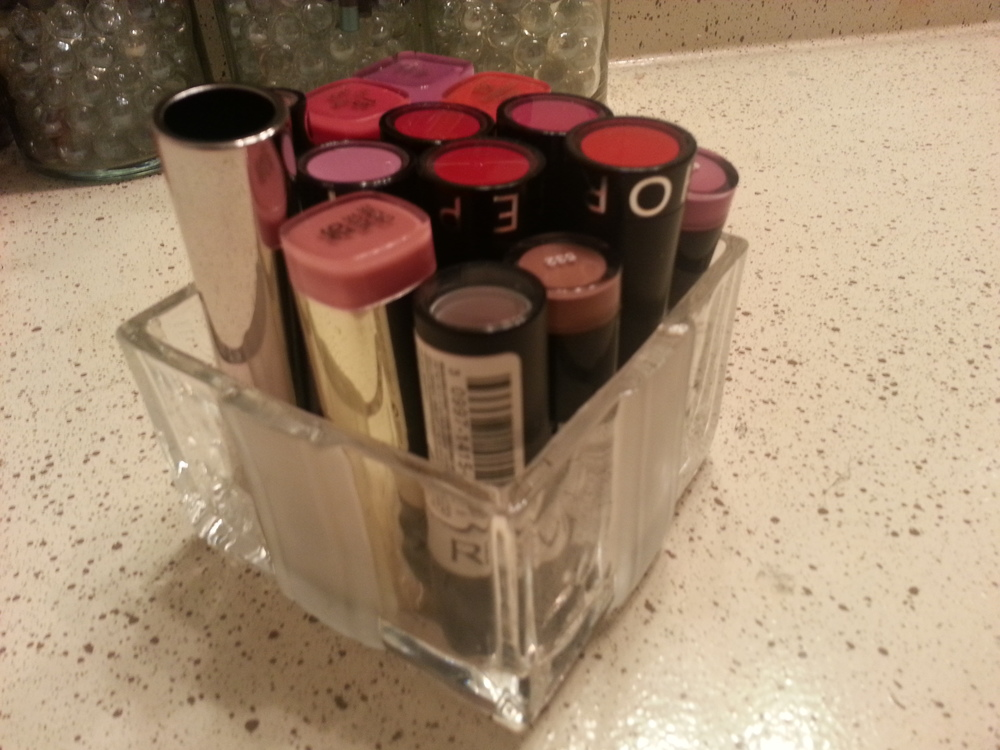 After...lipstick holder!!!