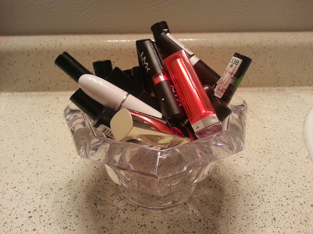 Another inexpensive storage option for my lipsticks