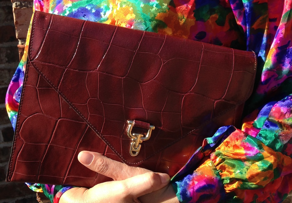 Thrifted 'Marsala' clutch purchased a few years back from Goodwill.
