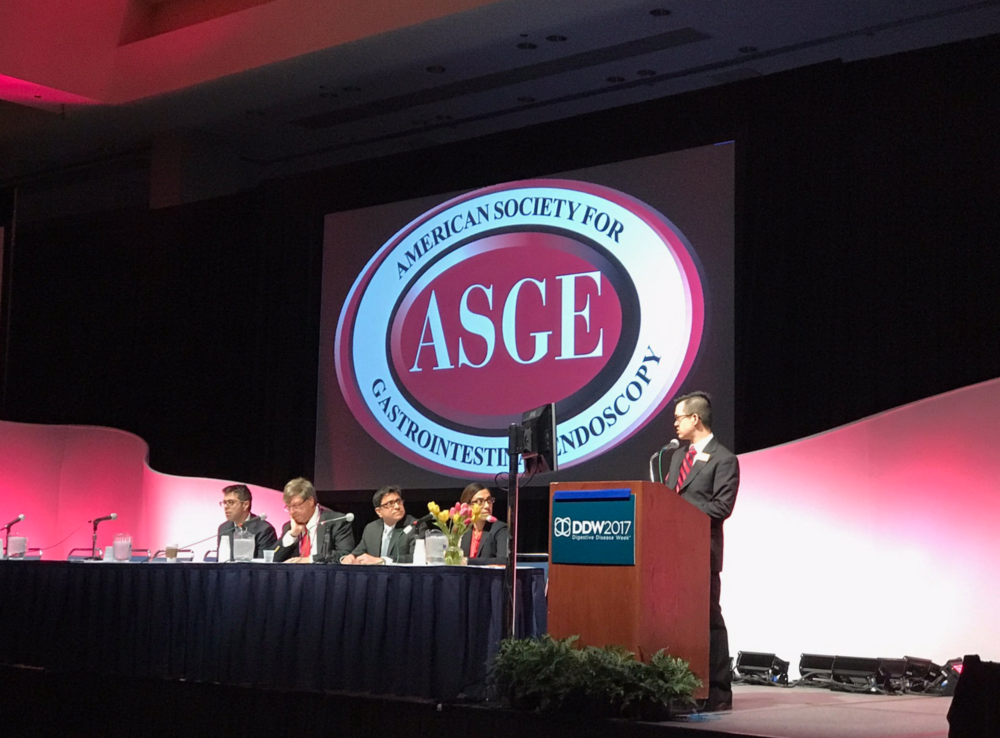 Presenting at the ASGE Video Plenary session
