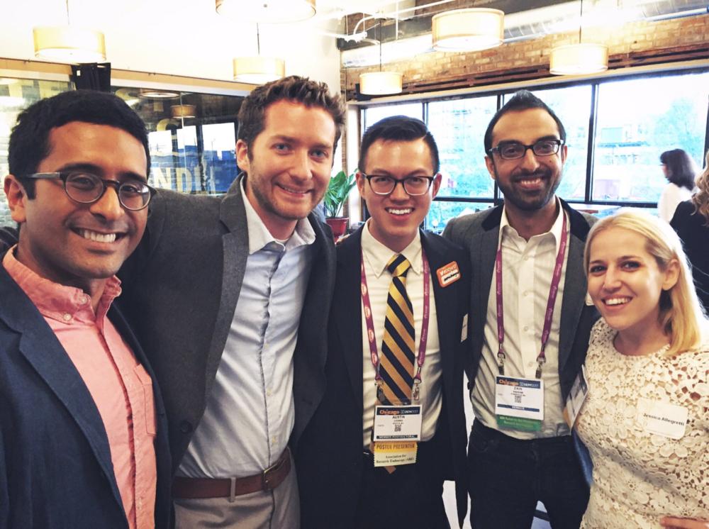 With leaders of Finch Therapeutics and OpenBiome, Dr. Majdi Osman, Mark Smith, Dr. Zain Kassam, and Dr. Jessica Allegretti.