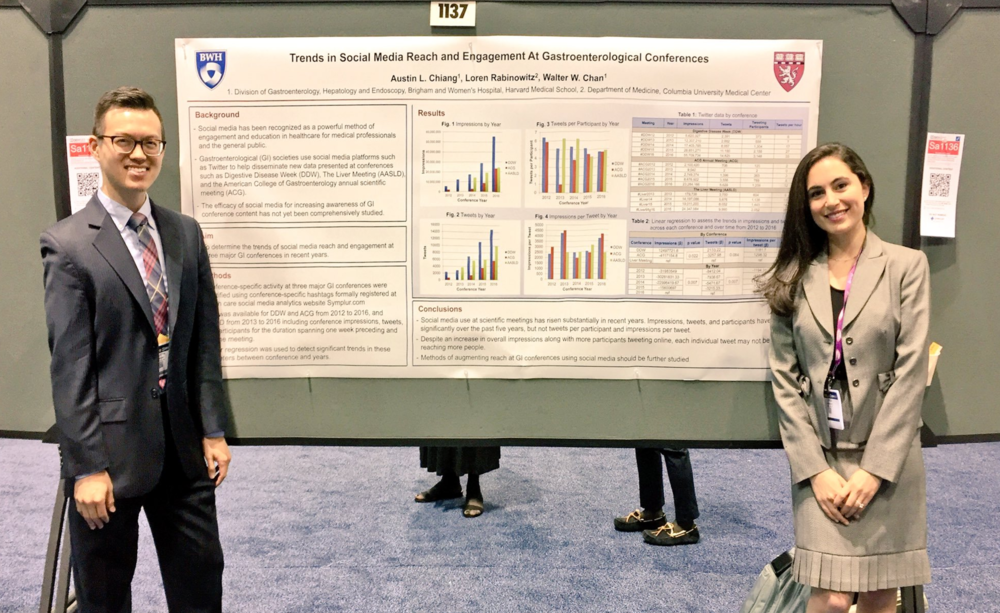 With Dr. Loren Galler Rabinowitz presenting one our poster presentations