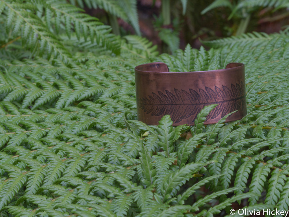 Tarkine Tree Fern Copper cuff