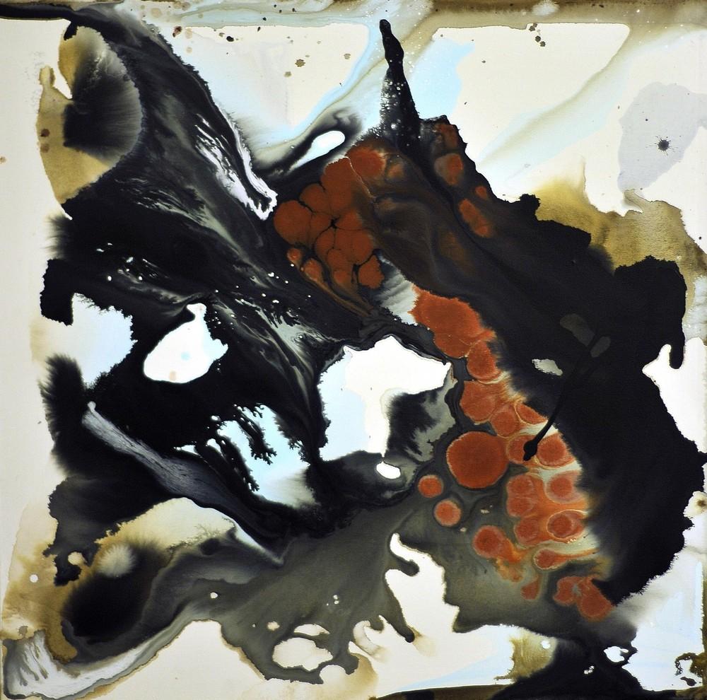 The Flaw, acrylic on canvas 83 x 83 cm, 2009