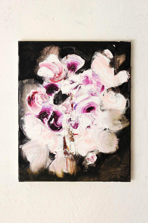 Erstbezug nach Sanierung, oil on canvas, 50 x 40 cm