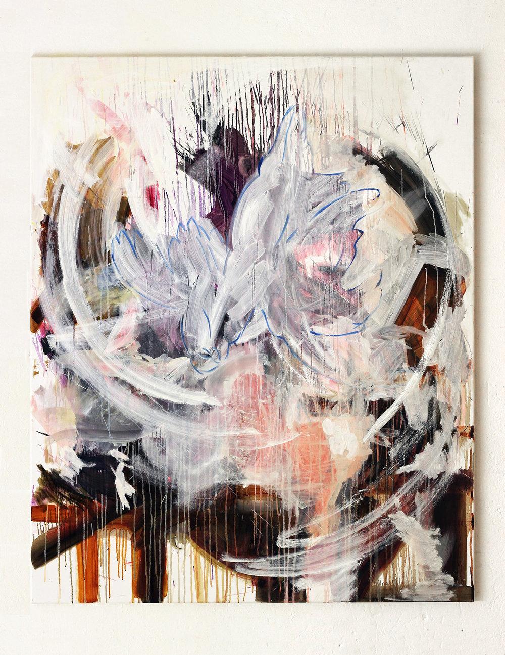 AWOL, oil on canvas, 150 x 140 cm