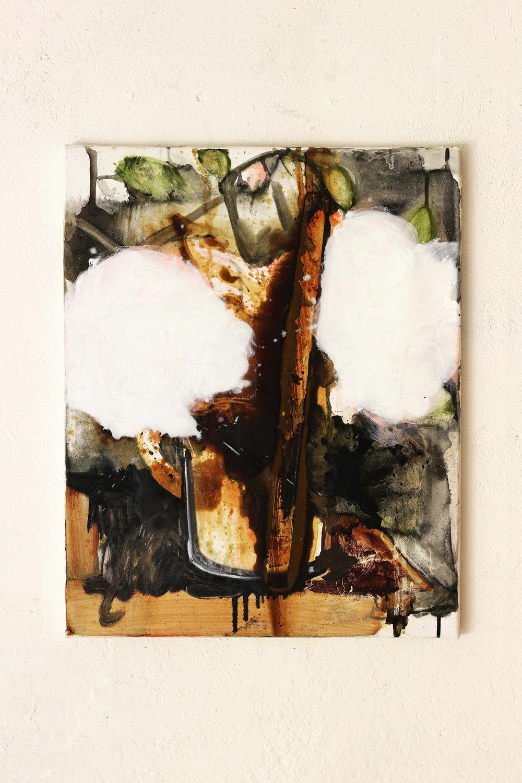 Oblique Alliance, oil on canvas, 50 x 40 cm