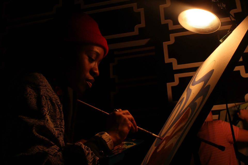 live painting at Ella Lounge NYC